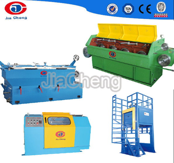 Intermediate wire drawing machine for copper